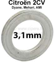 Kingpin spacer (distance disk). Heavy one: 3,1mm. Suitable for Citroen 2CV. Per piece! - 12390 - Der Franzose
