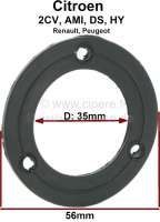 Fuel sender seal from rubber. Suitable for Citroen 2CV + Citroen DS, Renault. Per piece.