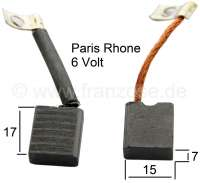 Generator Brush Set Paris Rhone for Citroen 2CV from the fifties. The generator is mounted on the crankshaft. Installed one starting from 1954. Measurements: 15x7mm. - 14291 - Der Franzose