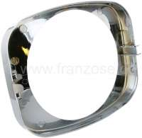 Headlight chrome ring, suitable for Citroen Dyane, starting from year of construction 1978. -1 - 14008 - Der Franzose