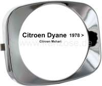 Headlight chrome ring, suitable for Citroen Dyane, starting from year of construction 1978. | 14008 | Der Franzose - www.franzose.de