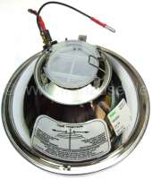 Headlight insert round, double-filament bulb. Suitable for Citroen 2CV6, HY. Version