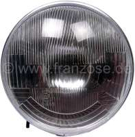 Headlight insert round, H4. Suitable for Citroen 2CV, HY. Per piece. Reproduction. Manufactured in India. - 14002 - Der Franzose