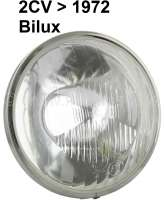 Headlight+insert+double-filament+bulb%2C+reproduction.+Suitable+for+Citroen+2CV%2C+to+about+year+of+construction+1972.+Wide+headlight+chrome+ring.+About+150mm+diameter%21