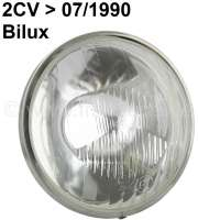 Reflector double-filament bulb reproduction, for Citroen 2CV6. Installed one until 1990! Exchange please the chrome ring for the originals of your old headlamp! - 14352 - Der Franzose