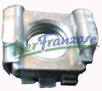 Box nut suitable for the securement of the wheel cover, for Citroen 2CV, Peugeot 204 + 304. The box nut is pressed from the rear into the rim! Thread M10. -1 - 16813 - Der Franzose