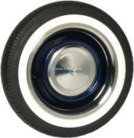 Set of  chrome rings for rims (4x) + white wall rings (4x). Suitable for Citroen 2CV. - 16860 - Der Franzose