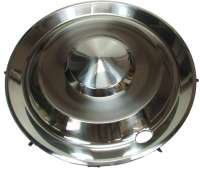 Wheel cover from high-grade steel, suitable for Citroen DS Pallas. 15 inch diameter. This wheel cover covers the total rim. The wheel cover can be mounted also at a Citroen 2CV. | 33133 | Der Franzose - www.franzose.de