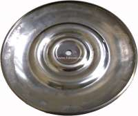 Wheel cover 2CV, old curved form. Fits on all Citroen 2CV rims! Securement by a screw. Diameter 230mm. Material high-grade steel polished! -1 - 16958 - Der Franzose