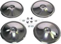 Wheel cover set completely, consisting of 4x wheel covers, 4x wheel cover screw, 4 x box nut). Suitable for Citroen 2CV. Note: The wheel covers can only fit, if you have short wheel nuts! -1 - 16814 - Der Franzose