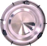 Wheel cover from stainless steel, suitable for Citroen DS Non Pallas. 15 inch diameter. This wheel cover covers the complete rim. -1 - 33134 - Der Franzose