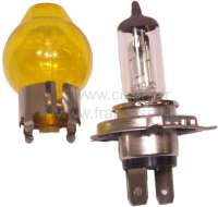 Bulb 12 V. H4, glass yellow for H4 lamp. The glass is inverted over the H4 lamp. The glass can be dismantled at any time again. -2 - 14389 - Der Franzose