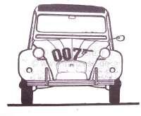 James bond 007, sticking set, for Citroen 2CV. -1 - 16337 - Der Franzose