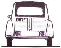 James bond 007, sticking set, for Citroen 2CV. -2 - 16337 - Der Franzose