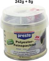 fine filler with hardener can 250g, colour white - 20473 - Der Franzose