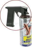 Handhold for lacquer aerosol spray. Facilitates exactly and controlled alloting of the spray. A real alleviation.   20897   Der Franzose - www.franzose.de