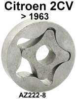 Oil pump for Citroen 2CV to year of construction 01/1963. 5 teeth. Outside diameter: 42mm, strength: 10,9mm. Without case. Or.Nr.: AZ222-8 - 10469 - Der Franzose