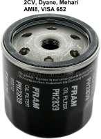 Oil filter for Citroen 2CV. Reproduction. Suitable for Citroen 2CV + Visa 652, starting from year of construction 09/1971. | 10174 | Der Franzose - www.franzose.de