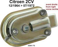 2CV old, door lock in front on the right (locking inside). Suitable for Citroen 2CV, of year of construction 12/1964 to 7/1972. Or.Nr. AZ861-7G - 16197 - Der Franzose