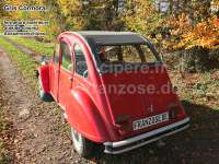 2CV old, soft top hood grey, outside closing (Gris Cormoran), normal back window. Made in France -1 - 17129 - Der Franzose
