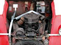 Spare wheel carrier from high-grade steel. The handle is mounted in the engine compartment. Suitable for Citroen 2CV starting from 1971. Made in Germany. | 19029 | Der Franzose - www.franzose.de