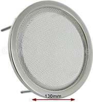 Loudspeaker cover chrome, round, 130mm, universal fitting, per piece. - 18508 - Der Franzose