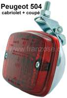 Fog tail light, manufacturer Hella. Chromed metal housing. Universal fitting. -1 - 14028 - Der Franzose