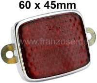 Reflector square, framed in metal. With fixing straps, dimensions approx. 60x45mm. These reflectors were used in many French cars! - 14341 - Der Franzose