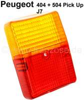 Taillight cap, befitting for Citroen ACDY (Dyane Van) + Peugeot 404 Pick UP, 504 Pick UP, J7. Fits on the left + on the right. - 14057 - Der Franzose