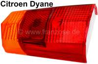 Taillight cap, suitable for Citroen Dyane. Fitting on the left of or on the right, with lens for the registration plate light. - 14056 - Der Franzose