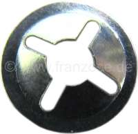 Retaining tie-clip for emblems. Suitable for 2,5mm of pins. Per piece. - 37719 - Der Franzose