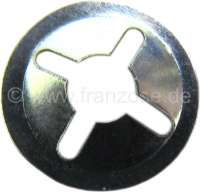 Retaining tie-clip (locking clip), for 4mm pins (securement of emblems). Per piece. Or. No. ZC9619867U - 37264 - Der Franzose