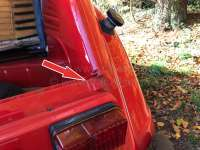 2CV, Roll roof lug, suitable on the left above at the windshield frame and on the right rear on the rear end panel! For Citroen 2CV, Installed over all years of construction! -1 - 15441 - Der Franzose