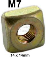 Box nut M7 (casing nut 14 x 14mm). Suitable for Citroen 2CV (in front at the original chassis. Securement head light bracket - bumper mounting bracket) | 21057 | Der Franzose - www.franzose.de