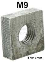 Box nut M9 (casing nut). 17 x 17mm - 21066 - Der Franzose