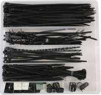 Cable Tie Kit 210pcs. A comprehensive range of Cable Ties and Accessories.  Includes cable ties, R type cable clamps, cable tie mounts, panel fixing cable ties, mounting head cable ties. 50pc of each size Cable Ties: 2.5mm x 100mm, 3.6mm x 150mm and 4.8mm x230mm. 10pc of each size Panel Fixing Cable Ties: 3.5mm x 150mm and 4.8mm x 200mm. 10pc of each Mounting Head Cable Tie 4.8mm x 200mm and 1/2