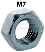 Nut M7, galvanized