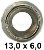 Rosette nickel plates. For 5mm screw. Outside diameter: 13mm. Height: 3,0mm.  These Rosetten used for dashboard, door linings. Suitable for Citroen 2CV, DS, HY and in many Peugeot + Renault. | 21143 | Der Franzose - www.franzose.de