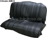 AMI8, seat cover rear, from vinyl. Color: black. Suitable for Citroen AMI8. - 18595 - Der Franzose