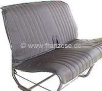 2CV, Covering rear seat beanch, in vinyl black. The sides are open. Made in France. Smooth surface. -1 - 18310 - Der Franzose