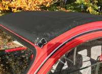 Soft top hood, beige, similar to 1002, (Gazelle-Ivoire,Borelly-Nevada), outside closing for Dolly beige-wine-red, 2cv. Made in France -2 - 17089 - Der Franzose