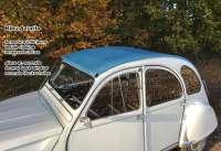 2CV, Soft top hood blue (Bleu Azurite). Inside closing, normal back window. Made in France -2 - 17427 - Der Franzose