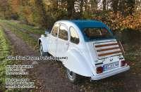 Soft top hood, blue, (Bleu Moyen, Petrol-Lagune) 2cv, inside closing. Made in France -1 - 17012 - Der Franzose