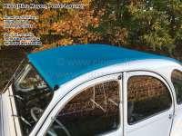 Soft top hood, blue, (Bleu Moyen, Petrol-Lagune) 2cv, inside closing. Made in France -2 - 17012 - Der Franzose
