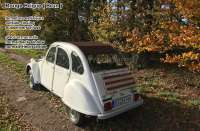 Soft top hood, dark red-brown, 2cv outside closing! Made in France -1 - 17088 - Der Franzose