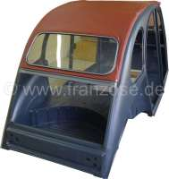 Soft top hood, dark red-brown, 2cv outside closing! Made in France | 17088 | Der Franzose - www.franzose.de