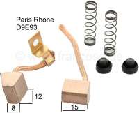 Starter brushes, for starter motors D9E93 Paris Rhone. Suitable for Citroen 2CV + Renault R4. - 82179 - Der Franzose
