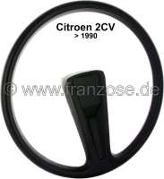 Steering wheel for Citroen 2CV. Final version, Installed until 1990. The steering wheel is supplied with hub cover. - 18104 - Der Franzose