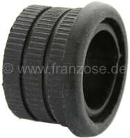 Steering column guide rubber. Suitable for Citroen 2CV6 + 2CV4. This rubber is mounted in the steering columm tube on the height of the starter lock. Measurement: 26.5 x 36.7 x 25,5mm. Or.Nr.: A44183A - 12090 - Der Franzose