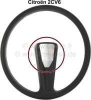 Steering wheel hub cover from high-grade steel, for 1 spoke steering wheel. Suitable for Citroen 2CV, Installed until 1990. Made in Germany. | 18171 | Der Franzose - www.franzose.de